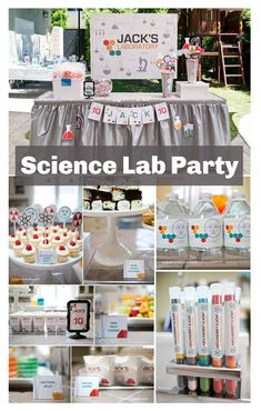 Everything you need to throw an awesome science or chemistry party.  #ad #science #chemistry #scienceparty #birthdayparty #instantdownload #pdf #etsy