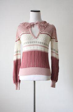 vintage summer garden sweater