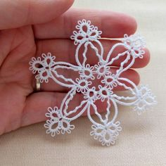 Tatted snowflake, get yours set in time for Christmas!