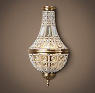 19th C. French Empire Crystal Sconce Small | Sconces | Restoration Hardware