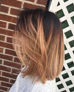 LOB + Rose Gold Balayage Ombre