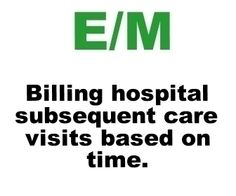 How To Bill Hospital Follow-Up Codes Based On Time.