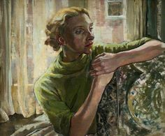 Ethel Leontine Gabain 1883–1950 At a Sunny Window Oil on canvas, 38 x 48 cm Collection: Watford Museum