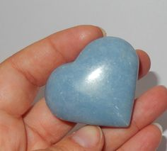 Angelite Heart by earthlightgems on Etsy