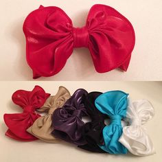 A personal favorite from my Etsy shop https://www.etsy.com/listing/257198611/you-pick-45-bow-satin-clip-for-your