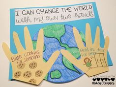 Kindness Craft- I can change the world with my own two hands.