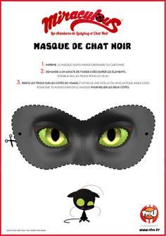 Imprime le super masque de Chat Noir, découpe le en suivant les pointillés et transforme toi en super héros ! Tu pourras faire comme Adrien et te transformer en Chat Noir le super héros de la série Miraculous !