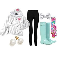 rainy day, created by the-southern-prep on Polyvore by limeyey