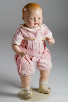 1920's-1930's EIH Horsman Baby Dimples Mama composition doll w/original clothing