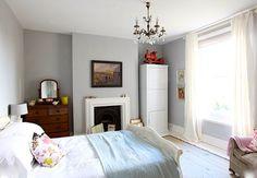 pretty grey bedroom