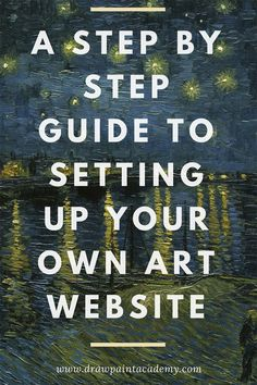 Learn how to set up your very own art website to showcase your artwork Gifts For Art Lovers, Lovers Art, Selling Art Online, Online Art, Online Jobs, Sell My Art, Art Market, Drawing, Art Blog