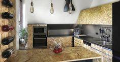 Los paneles OSB se utilizan tanto para construcción viviendas como para decorarlas, una tendencia que ha posibilitado un sinfín de opciones gracias a las características de este material. #OSB #Tendencias #Decoracion #Interiorismo #Muebles #Madera #OrientedStrandBoard