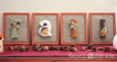 Repita Crafter Mí: Cartas hilo envuelto para el otoño