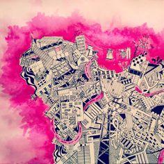 #beirut #art #drawing #map #painting