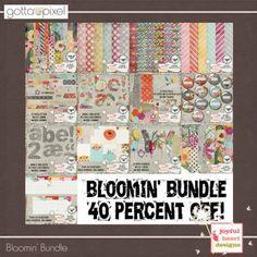 Bloomin' Digital Scrapbook Bundle at Gotta Pixel. www.gottapixel.net/