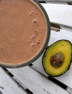Throw an avocado into your chocolate protein shakes — it adds AMAZING creaminess and richness, plus it infuses fiber and healthy fats. DO IT!