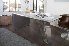 Luxusný nábytok REACTION: Kovový písací stolík