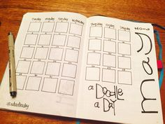 """I'm really excited about these pages. In each little square (they are 1""""x1"""") I will do a little doodle that represents a memory of that da..."""