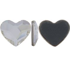 SWAROVSKI Hot Fix 2808 Heart Flat Back Stone 10mm Crystal