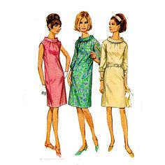 1960s Roll Collar Dress Simplicity 7099 Vintage by JFerrariDesigns, $8.00