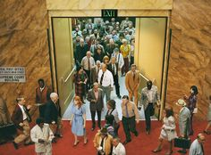 taken by - Alex Prager, image - crowd #8 (City Hall), series 'Face In The Crowd', 2013.