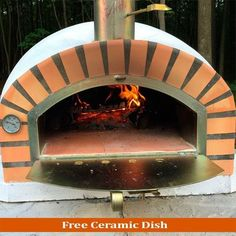 Yard, Garden & Outdoor Living Brick Wood Fired Pizza Oven 90cm Black Pro-deluxe Cream Arch Package In Pain Home & Garden