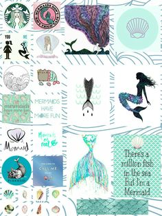 Edit stickers mermaid By: Cecilia Jacob (Brazil)