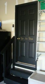"""""""You are home"""" on the door, comforting"""