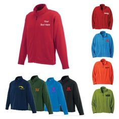 """Custom Gambela Microfleece Men's Full zip Jackets: Fashionable and Comfortable Men's Wear for harsh winters or on chilly days.  Available Colors: Bay Blue, Dark Citron Green, Black, Navy, New Royal, Pine Green, Spark, Team Red, Vintage Red Product Size: XS, S, M, L, XL, 2XL, 3XL, 4XL, 5XL. Imprint Area: Centered on Left Chest Right Chest 3.00"""" H x 3.00"""" W. Material: Polyester. #fashion #menswear #ootd"""