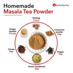 Masala Tea, Masala Spice, Masala Powder Recipe, Masala Recipe, Tea Recipes, Cooking Recipes, Food Calorie Chart, Amazing Food Hacks, Chai Tea Recipe