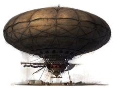 Airship by YongSub Noh  #Steampunk #Airship
