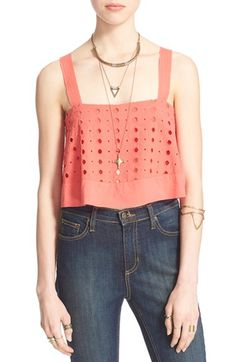 Free People 'By My Side' Cotton Tank available at #Nordstrom