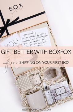 Free shipping on your first BOXFOX