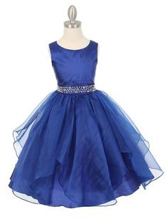 Dazzling Taffeta Dress with Organza Layered Skirt