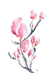 Japanese magnolias #watercolor #tattoo   best stuff