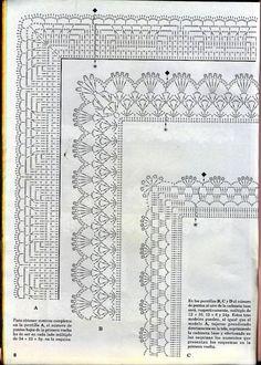 Diy Crafts - -Crochet Lace Trim Hands Ideas For 2019 crochet Crochet Border Patterns, Crochet Boarders, Crochet Lace Edging, Crochet Motifs, Crochet Diagram, Crochet Chart, Lace Patterns, Cotton Crochet, Thread Crochet