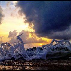 Ocean dancing.