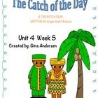 """This packet is a Fifth Grade Treasures Resources for """"Catch of the Day"""".  These resources compliment 5th grade Treasures (Unit 4 Week 5) """"Catch of ..."""