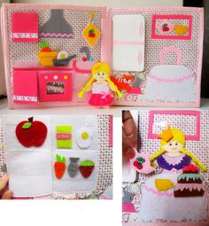 Quiet book busy book Doll house book felt book door HappyMumToys
