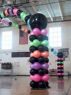 80s balloon decorations