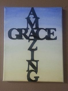 "Amazing Grace cross at sunrise - 8""x10"" acrylic on canvas"