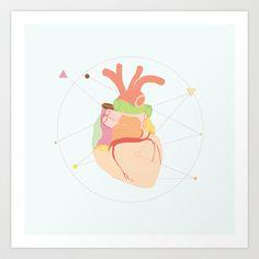 Heart Art Print by Mads Hindhede Svanegaard - $16.64