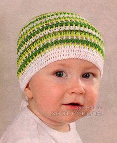 детская зеленая бандана вязаная крючком