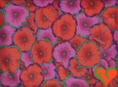 Kaffe Fassett Collective Philip Jacobs Picotte Poppies Fabric PJ52 Half Yard. Rare. OOP. VHTF. Retired. by FayCarrieQAOT on Etsy