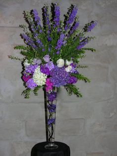 Image result for purple altar flowers | Wedding flowers for Irvin ...