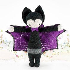 """Häkelanleitung für """"Vlad die Vampir-Fledermaus"""" / halloween crochet diy: vampire doll, batman by lalylala handmade via DaWanda.com"""