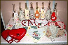 maniques et tabliers de bouteille - l'atelier de Moumoune