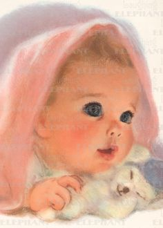 Nursery Art Print by Frances Hook - A Little Bundle of Joy - Original Vintage - clearly a baby-starlet waiting to become Vintage Baby Mädchen, Vintage Baby Pictures, Look Vintage, Vintage Children, Vintage Images, Vintage Prints, Vintage Art, Cute Pictures, Baby Images