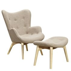Nye Koncept 445559-A Oatmeal Gray Aiden Chair-natural