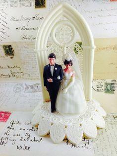 Vintage 1950's Wedding Cake Topper by jeanneelmer on Etsy, $30.00